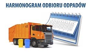Harmonogram odbioru odpadów z terenu Gminy Uście Gorlickie na 2021 r.